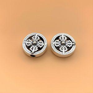 Charm bạc thái hình kim tiền tròn