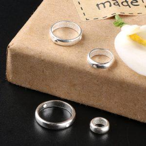 Charm bọc hạt hình tròn đơn giản 6-10 ly